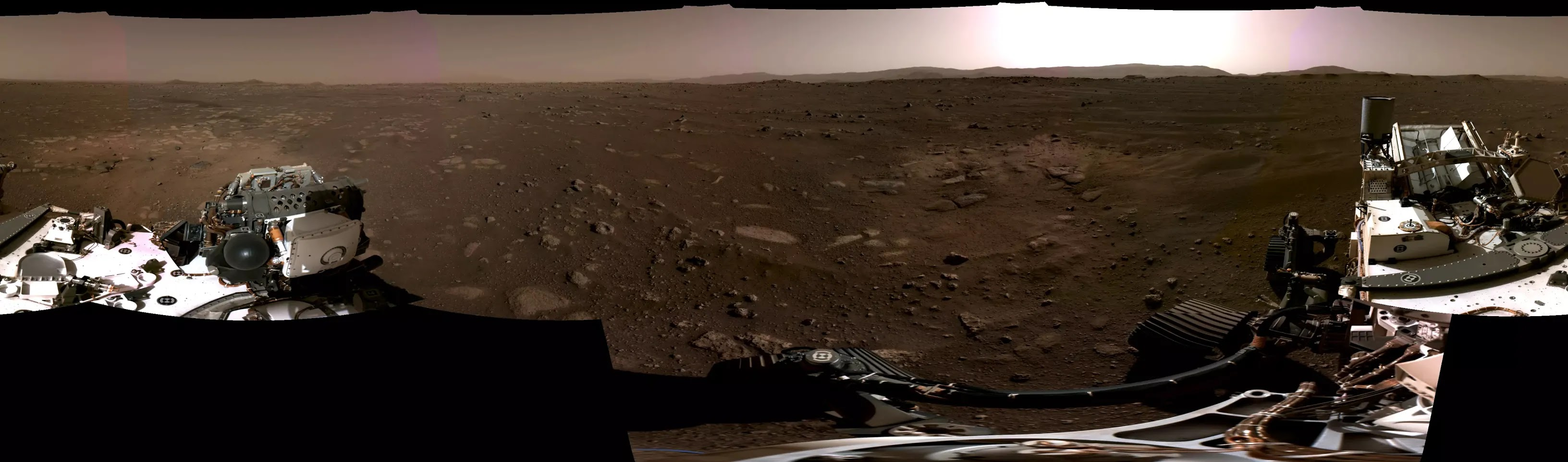 NASA Releases First Panoramic Images Of Mars From The Perseverance Rover