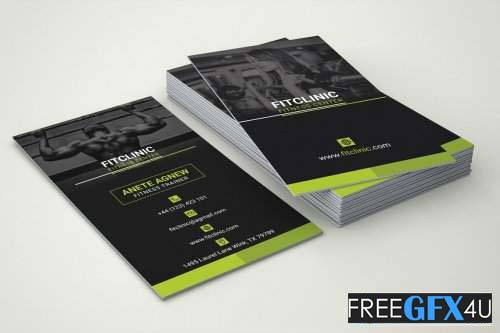 Fitness and Gym Center Business Card