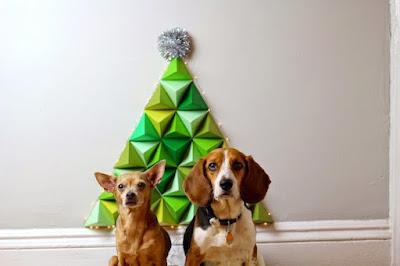 albero di natale di carta origami