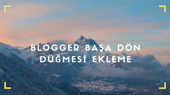 Blogger Başa Dön Düğmesi Ekleme SVG