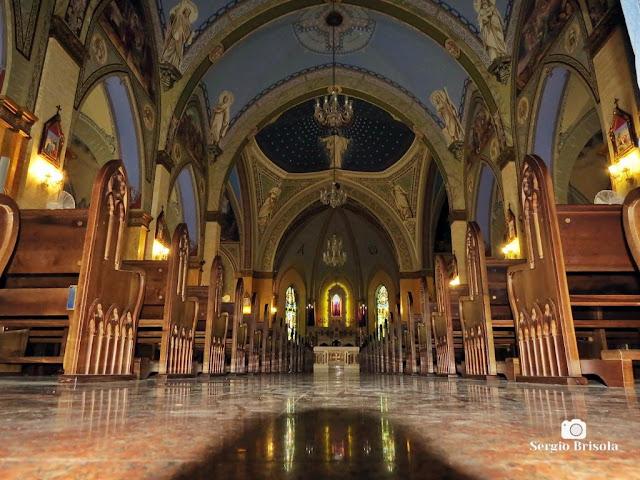 Vista do interior da Paróquia Nossa Senhora da Lapa - Lapa - São Paulo
