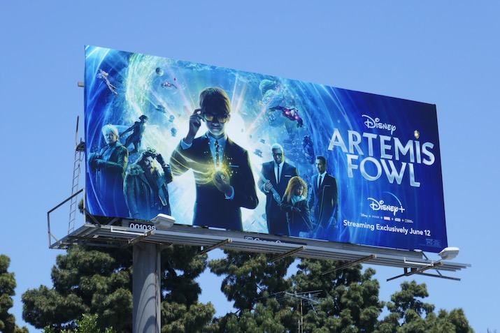 Disney Artemis Fowl movie billboard