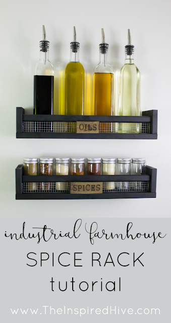 DIY Ikea hack spice rack tutorial