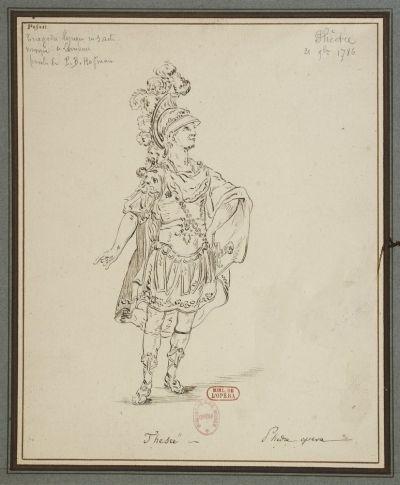 Phèdre de Lemoyne (1786) costume de Thésée (BNF)