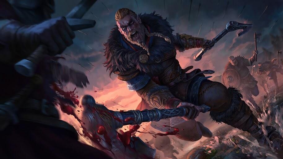 Eivor, Assassins Creed Valhalla, Battle, 4K, #7.2522