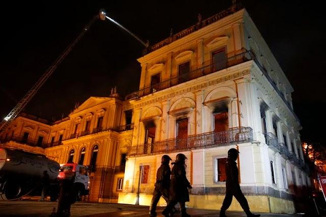 PF identifica local de início do incêndio no Museu Nacional