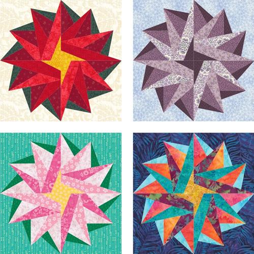 Poinsettia Star Quilt