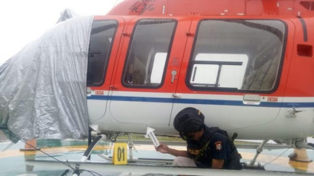Helikopter Ditembaki Orang Tak Dikenal saat Melintasi Kampung Tsinga