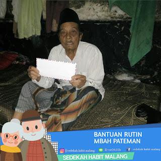 Mbah Pateman : Bantuan Rutin