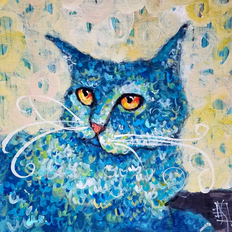CAT #28 Curly Jo by Joanie Springer #30cats