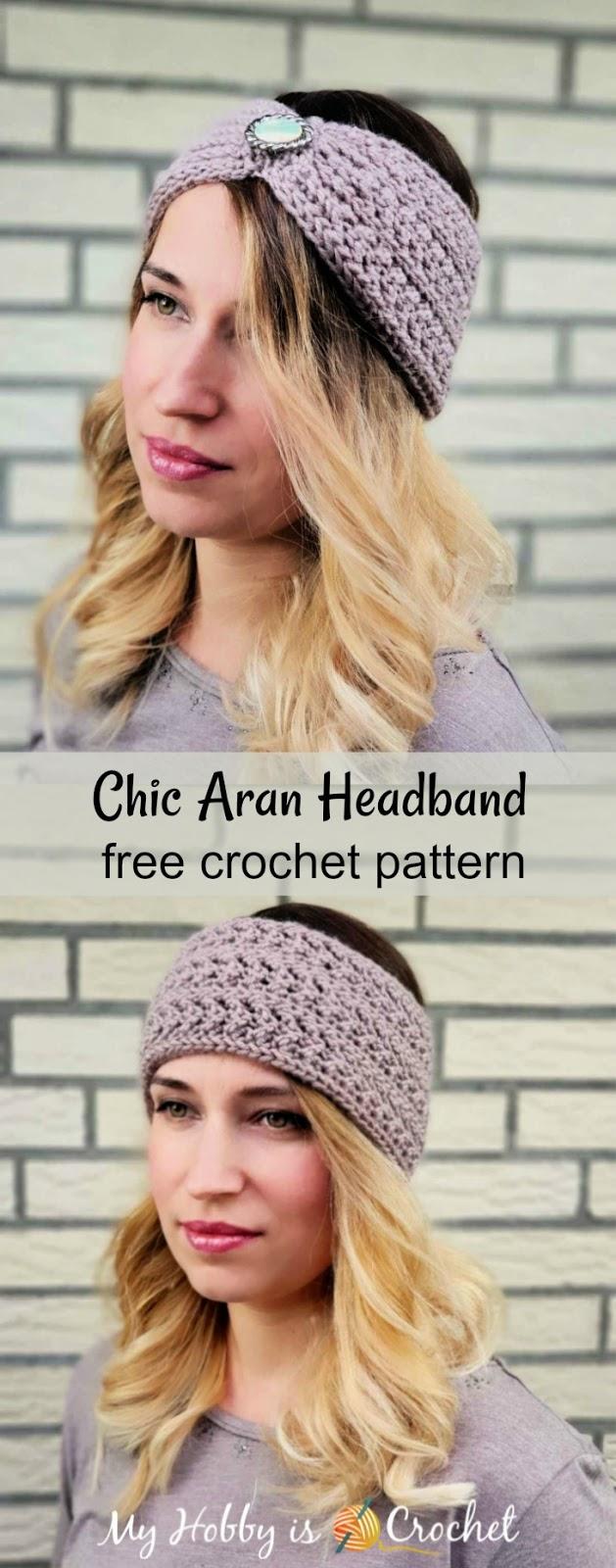 Chic Aran Headband / Earwarmer - Free Crochet Pattern