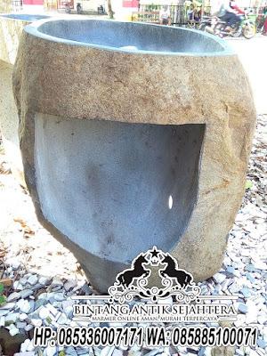Wastafel Batu Kali, Wastafel Pedestal Batu Kali, Ukuran Wastafel Batu Kali