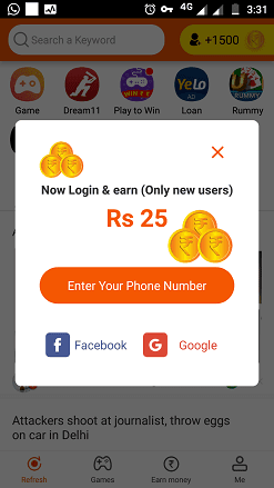 earn money rozdhan check in