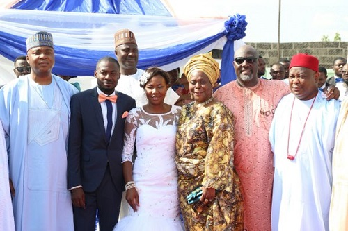 Bukola Saraki Attends Dino Melaye's Younger Sister's Wedding Ceremony