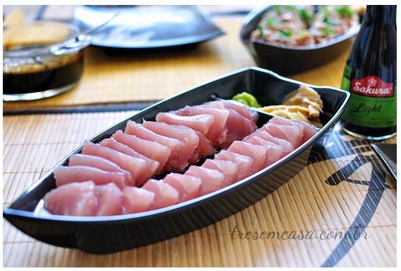sashimi de atum simples