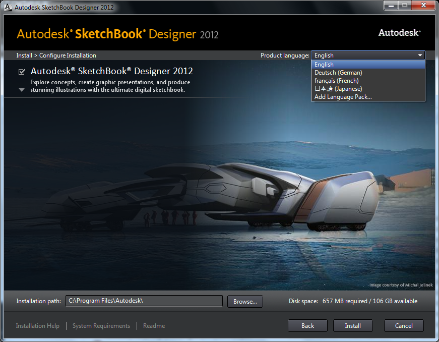 Autodesk SketchBook Designer 2012 mac