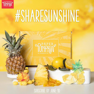 a Sneak Peek of Stampin' Up!'s June 2020 Paper Pumpkin Kit: a Box of Sunshine