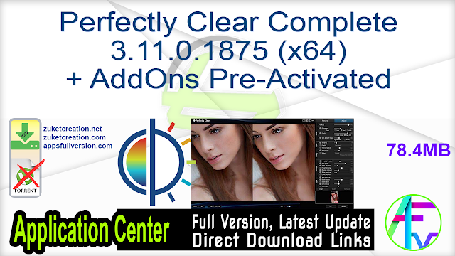 Perfectly Clear Complete 3.11.0.1875 (x64) + AddOns Pre-Activated
