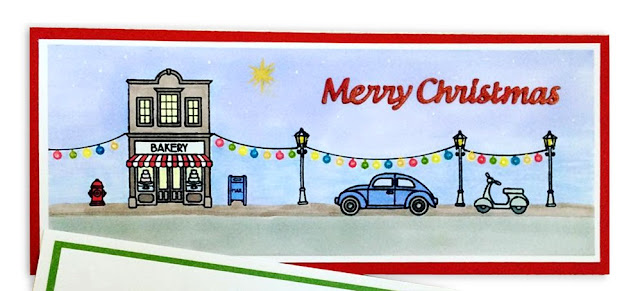 Sunny Studio Stamps: City Streets Christmas Card by Sherry Bahlman