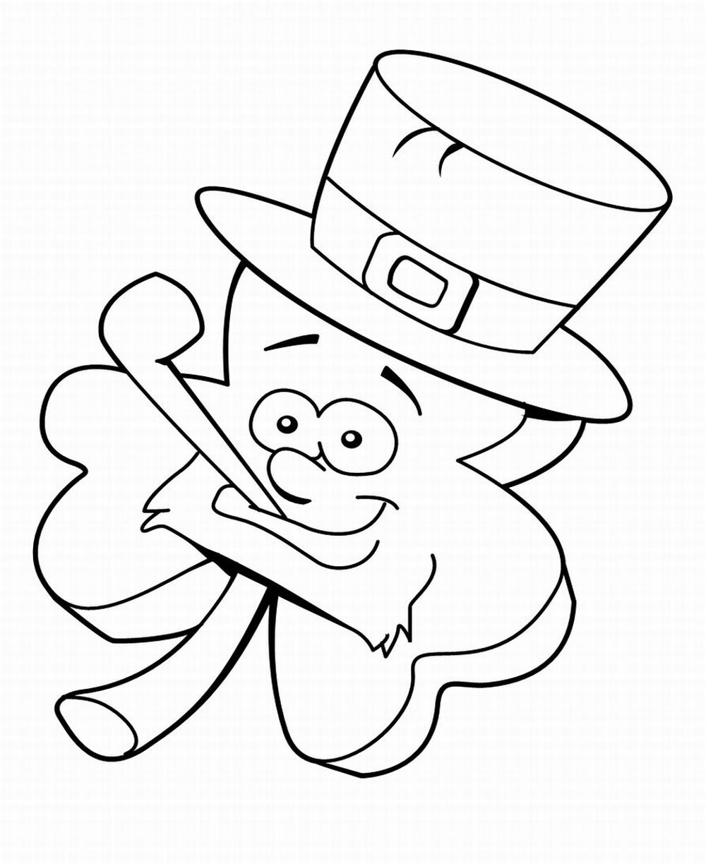 Leprechaun coloring pages to print for Free st patrick s day printable coloring pages