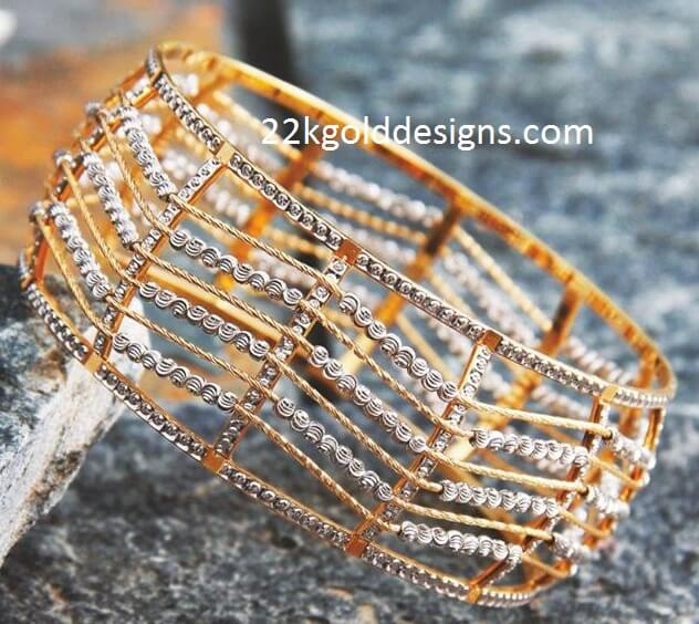 Broad Rhodium Bangle