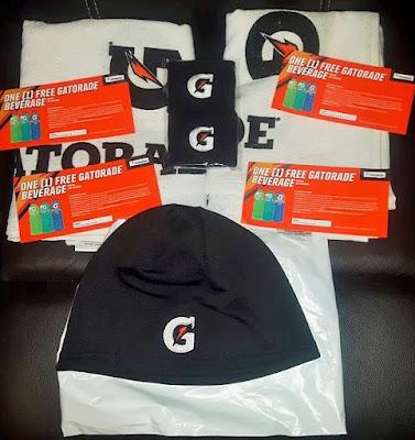 Free Gatorade gear in the mail