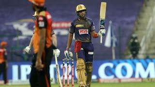 इंडियन प्रीमियर लीग के 13वें सीजन के 8वें मुकाबले में कोलकाता नाइटराइडर्स और सनराइजर्स हैदराबाद की टीम आमने-सामने थी।