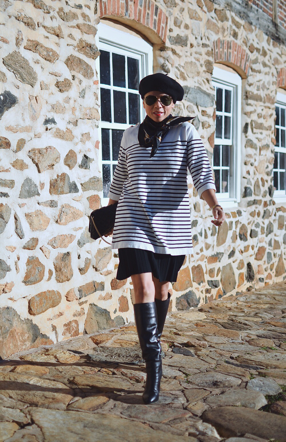 Nautical street style outfit