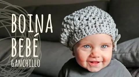 Hermosa Boina Bebé a Tejido a Ganchillo