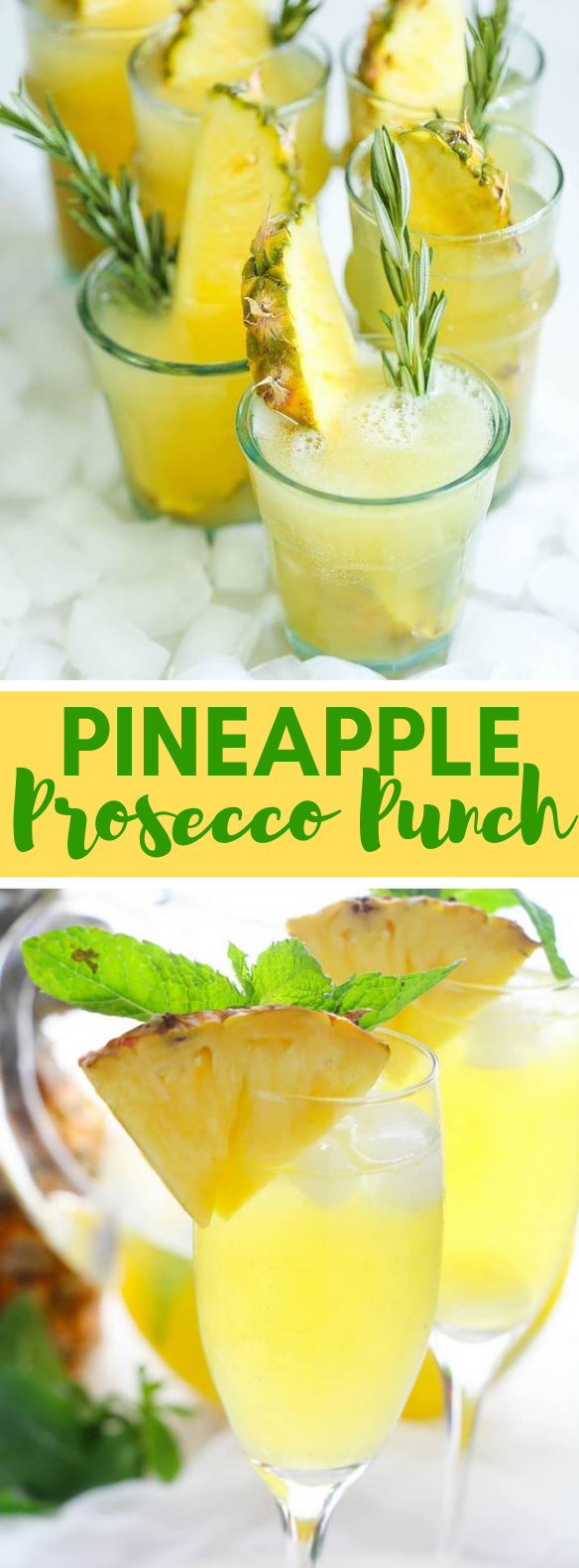 PINEAPPLE PROSECCO PUNCH #drinks #cocktails