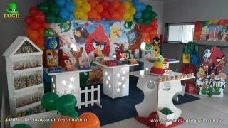 Decoração Angry Birds para aniversário