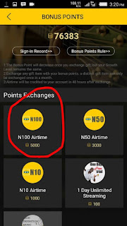 How To Convert Your MTN MusicPlus Points To Airtime Credit