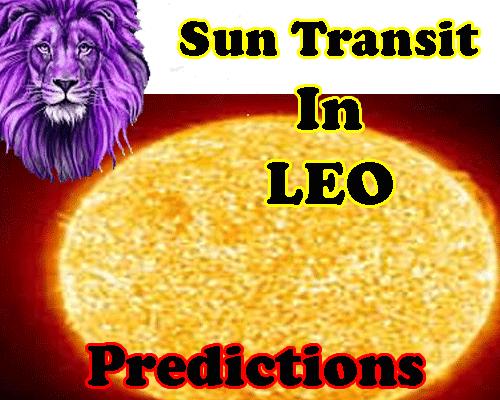 sun transit in leo impact on 12 zodiacs