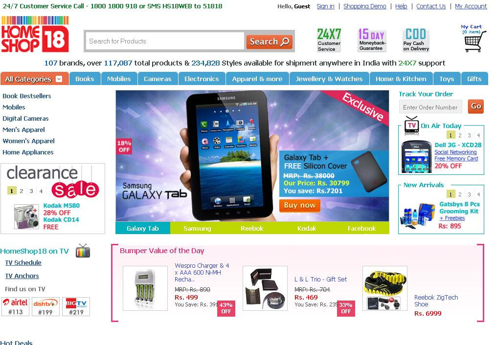 HomeShop18 online stores with offers on mobiles, cameras, home appliances, gifts, games, books, laptops, gifts, apparel. Free Shipping in India. Pay Cash on anthonyevans.tkon: 7th floor, FC, SectorA, Filmcity, Filmcity, Noida,