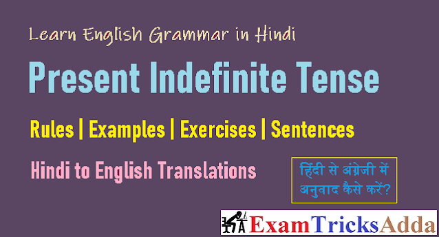 Present Indefinite Tense in Hindi / Simple Present