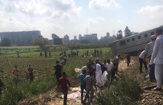 اسماء ضحايا ومصابين حادث قطار خورشيد واخر اخبار حادث تصادم قطار الاسكندرية الذي خلف 45 قتيلا و172 مصابا