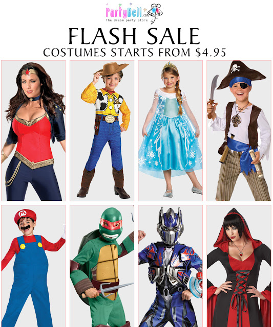 Flash Sale on Popular Halloween Costumes at PartyBell.com