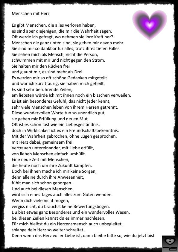 Gedichte Von Nicole Sunitsch Autorin Menschen Mit Herz