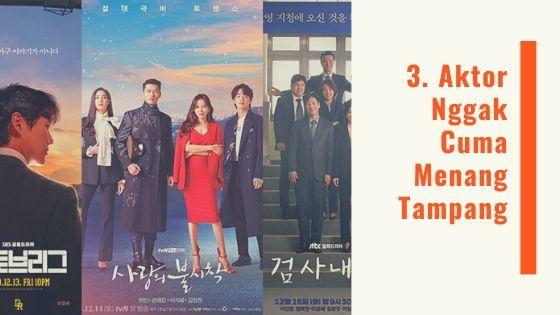 aktor drama korea nggak menang tampang