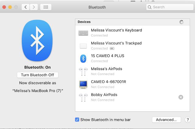 Bluetooth Setup CAMEO 4 Plus, 15 CAMEO 4, 15 CAMEO 4 Plus, Silhouette CAMEO 4 Plus, 15 Silhouette CAMEO 4