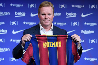 Possible Barcelona Koeman lineup, may switch to 4-2-3-1 formation