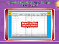 Contoh Daftar Hadir Ujian Nasional Format Excel