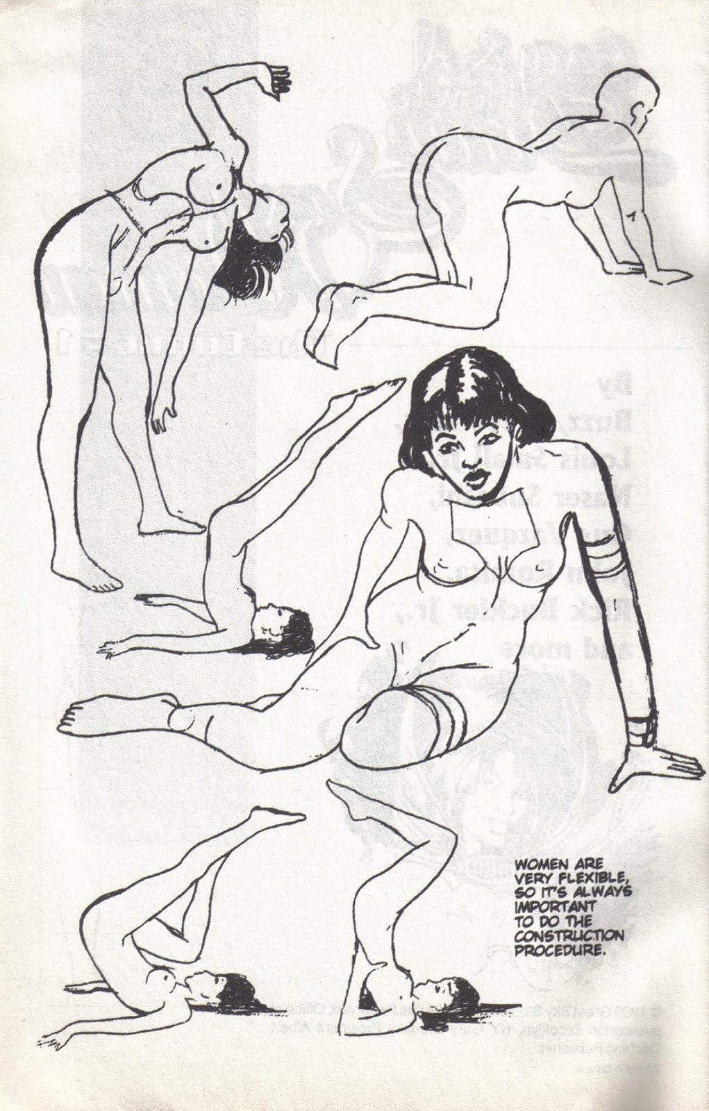 Adult cartoon comic drawing erotic