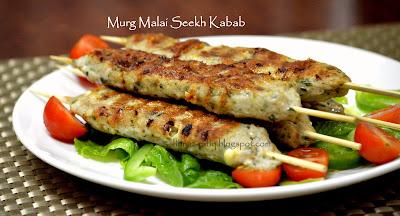 Chicken Mince Kabab ~ Chicken Seekh Kabab