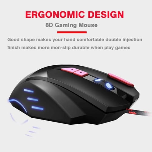 Review SPEATE 7 Colors RGB Gaming Mouse Wired