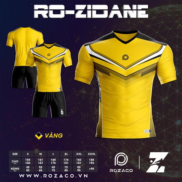 Áo Không Logo Rozaco RO-ZIDANE Màu Vàng