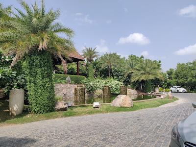 way to the reception at ananta resort