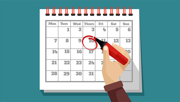Lịch học kế toán ngày tháng năm