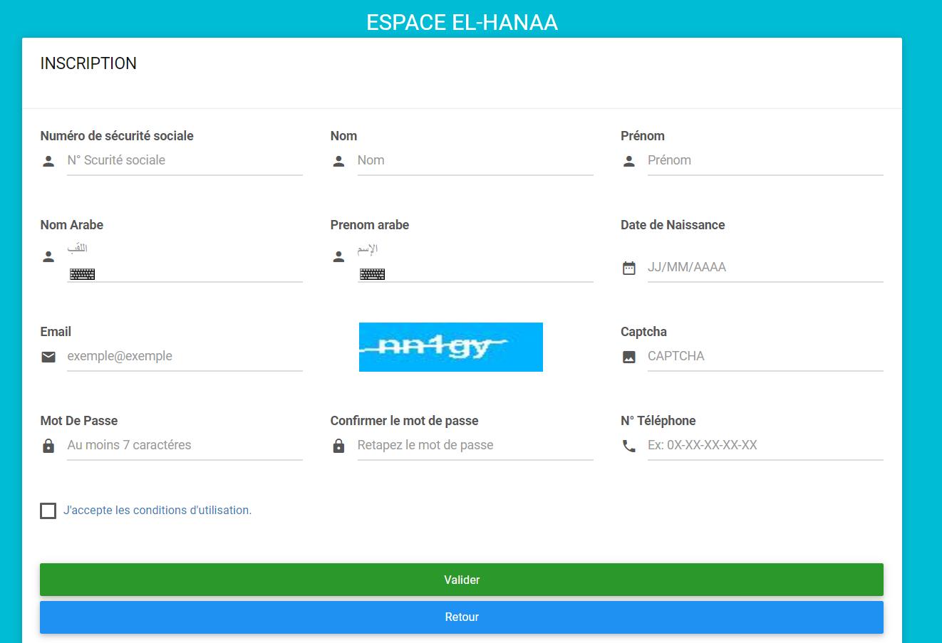 طريقة التسجيل في موقع الضمان الاجتماعي الجزائري elhana inscription 10