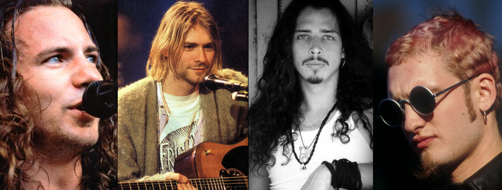 eddie vedder kurt cobain chris cornell layne staley pearl jam nirvana soundgarden alice in chains
